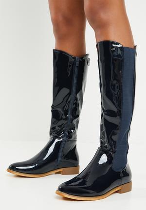 2838bc03f07 Knee length boot - navy