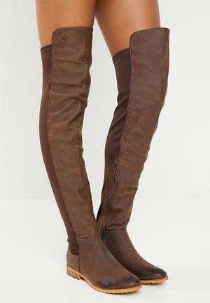 Knee length boot - brown d9fdb7ca4