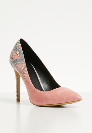cae076f8f293 Zebra print stiletto heel - pink