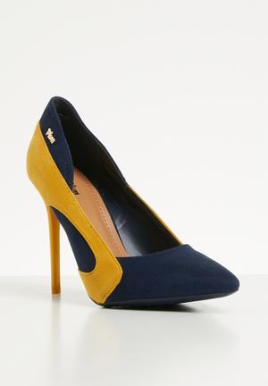 1c0d51d2c92 Stiletto heel - navy   yellow