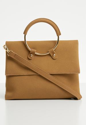 Jagger ring detail clutch bag - beige e2cb1e37d0b9d