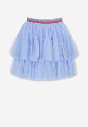 dba607b8ec3 Trixiebelle tulle tiered skirt - blue