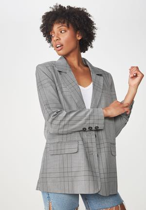 3a62b2c0ab4401 Relaxed blazer - black   white