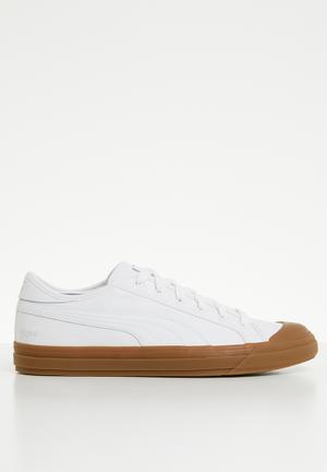 8538d93a711fe7 Capri Leather - Puma White-Gum-Gum
