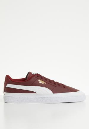 Basket Skate - Cordovan-Puma White 979d79c38