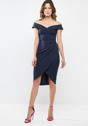 911cec5a6e01 Neptune bardot midi dress - navy