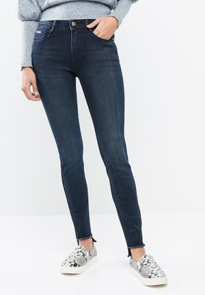 691a109cc597 Hem detail skinny jeans - dark blue