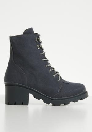 Canvas hiking boot - charcoal