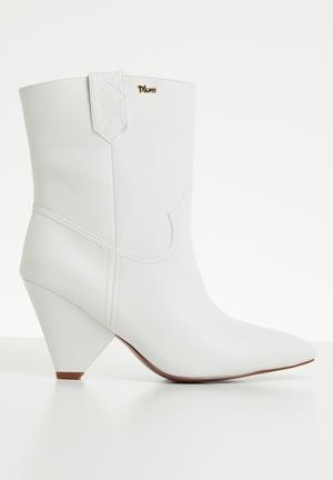 792ea7611a7 Faux leather mid-calf boot - white