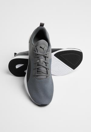 Flyer runner - charcoal grey - puma black dd8cf9384