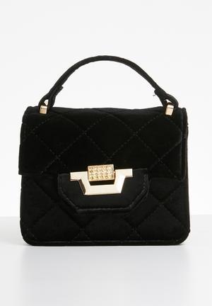 c2c0cf35f5 Micro mini velvet quilted handbag - black