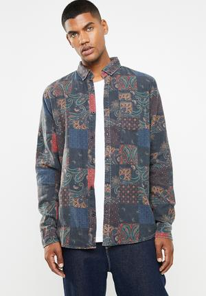 424183cfb8 Long sleeve printed flannel shirt - multi