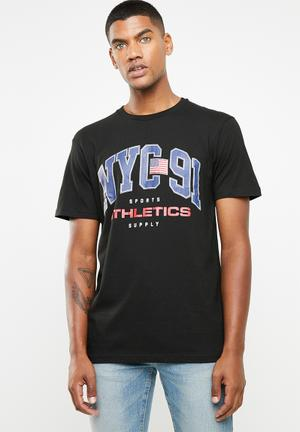6c1cf0fc398a Nyc 91 short sleeve T-shirt - black
