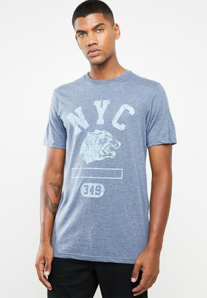 74a3344620ca Nyc wolf T-shirt - blue