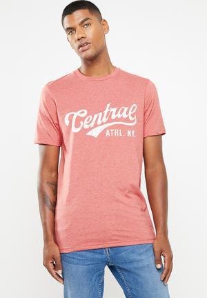1dae636eb1 Central ath T-shirt - peach