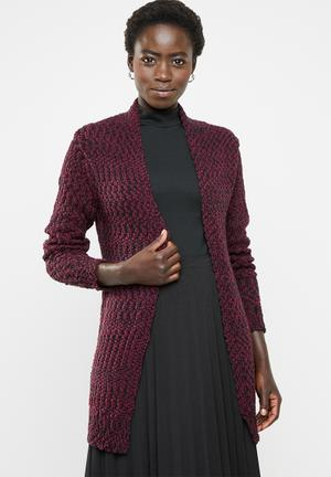 46494c532be9fb Open front cardigan - burgundy