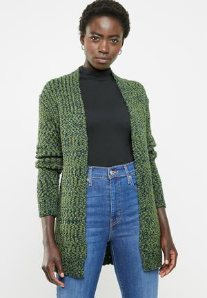 55b1bbd8e2fd3c Open front cardigan - green