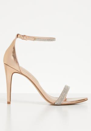 a25b224adccc Rhinestone embellished heel - rose gold