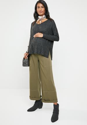 1ee3e838cd5 Stitch detail utility pants - khaki