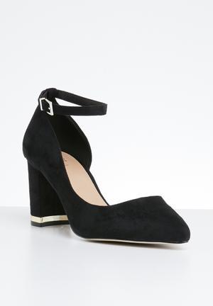 1042c55a3377 Ankle strap heel - black