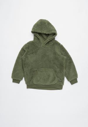 ffa1c72911c5 Teddy hooded fleece - green