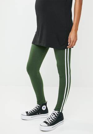 844002c4140 Racing stripe leggings - khaki green