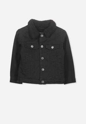 40f00771a8ef Jessie sherpa denim jacket - black
