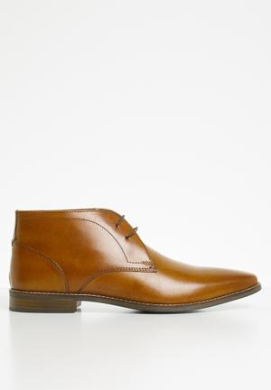 Knighton leather formal boot - tan