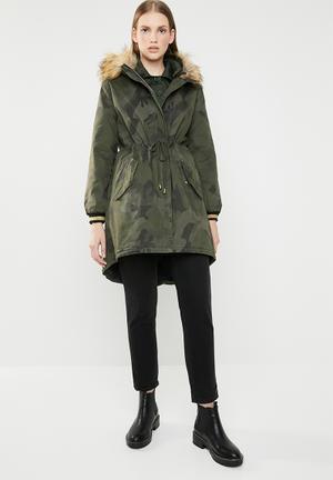Camo coat - khaki