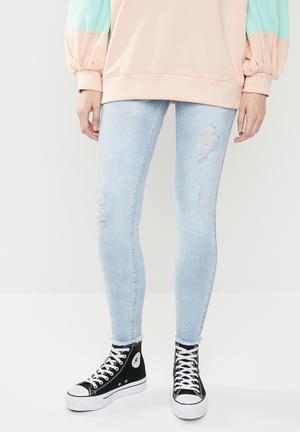 2f1bc2c6b6948d Sinner authentic high waisted distressed skinny- blue