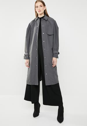 b18ae422745 Puff sleeve coat - grey