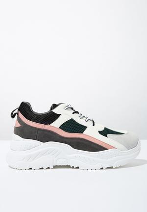 2366066e524f Textile chunky flatform sneaker - multi