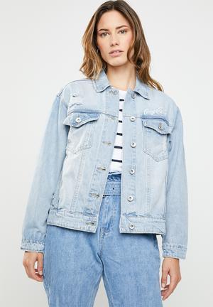 New boyfriend fashion denim jacket - blue