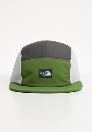 53fb1317244 Class five panel hat - green   grey