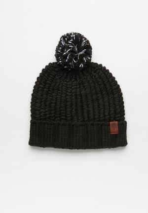 72829911738 Cozy chunky beanie - black