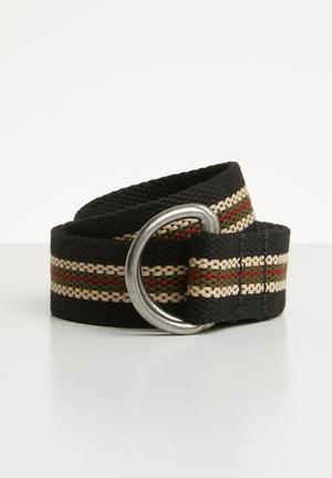 08b2909988 Multi stripe canvas belt - multi