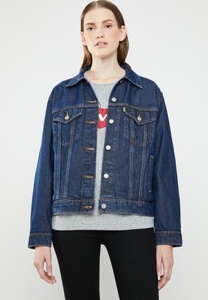 Levi's® X Peanuts Ex-Boyfriend trucker jacket - blue