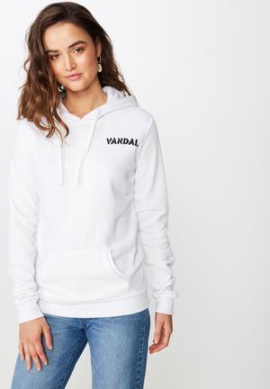 882c39528b59c6 Delevinge graphic hoodie - white