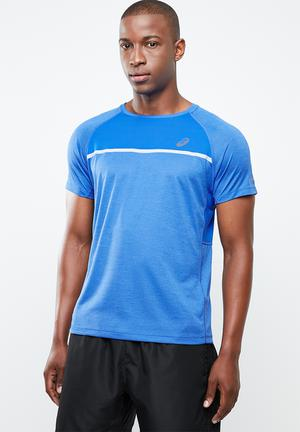 553087affbfe Price High to Low  Discount. Asics short sleeve top - blue