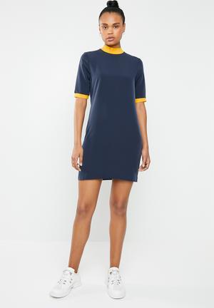 1bd1086f44d Julie 2 4 sleeve short dress - navy   yellow