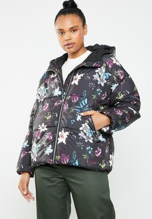 Aya printed puffa jacket - multi