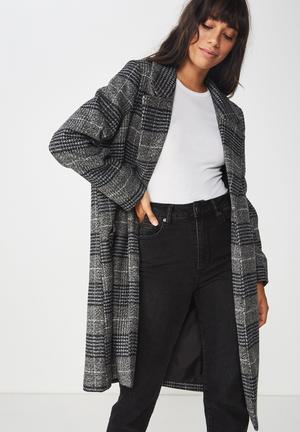 New mid-length coat - black