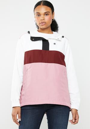 383e2b5ea8b Deline colour block anorak jacket - multi