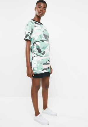67cb2ba42f9af Essential aqua camo dress - multi