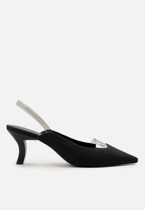 b5ae3bd91 Vinyl detail heel - black