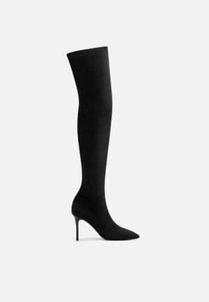 High tip boot - black