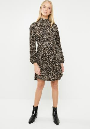 10b8f47dc3f Leopard print dress - brown animal