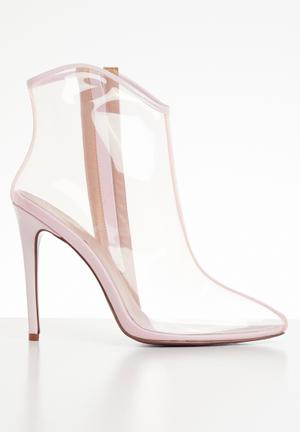 1ad6f2e2faaa Vinyal stiletto heel ankle boot - light pink