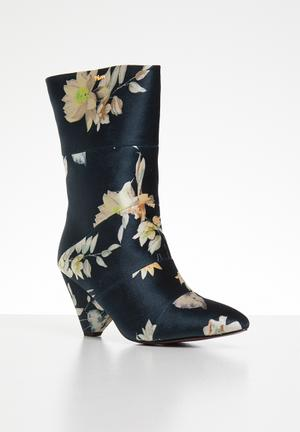 2f475d4c4731 Floral print calf-length boot - navy