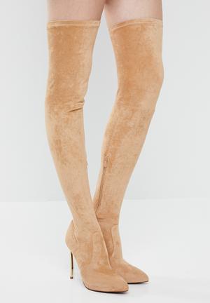 Thigh high boot  - brown